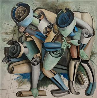 Don Kosta - Secrets Acrylic on Canvas, Paintings