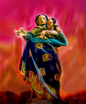 Howard Harris - Madona & Child Digital Sublimation Print on Aluminum, Photography