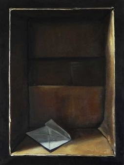 Pauli Zmolek - The Letter Oil on Canvas, Paintings
