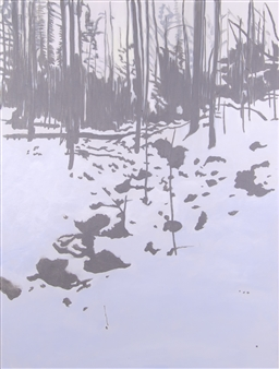 Gabriella Mirabelli - Teatown Lake Trail Winter Acrylic on Canvas, Paintings