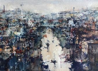 Alejandro Miras - Canal Watercolor, Paintings