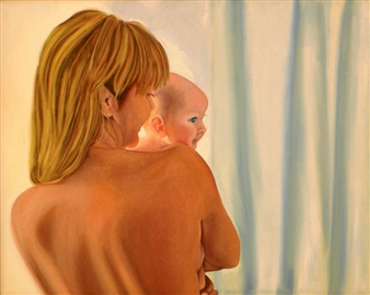 Maribel Matthews - Madonna and Child Oil on Canvas, Paintings