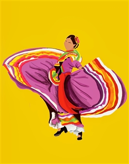 Vanessa Gonzalez - Danza Tapatia #3 Digital Illustration, Digital Art