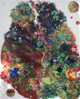 Angela Schiappa - The Last Hug of Spring 2020 Mixed Media on Canvas, Mixed Media