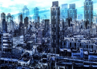 Shifra Levyathan - City Density 02 Digital C-Print, Photography