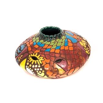 Nora Pineda - Buddhas in Paradise Ceramic, Sculpture