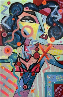 Lisa Gehres - First Impression Acrylic & Spraypaint on Canvas, Paintings