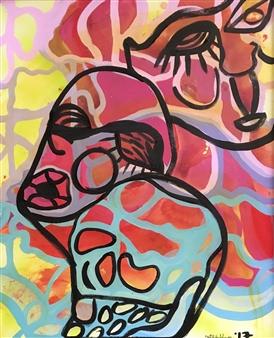 Olivia Kapoor - Silhouette 2 Acrylic on Canvas, Paintings