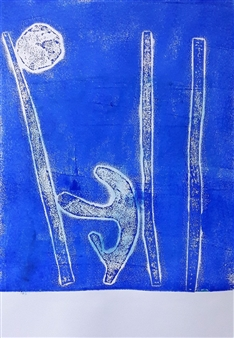 Claudia Mini - Water Pollution Monotype, Prints
