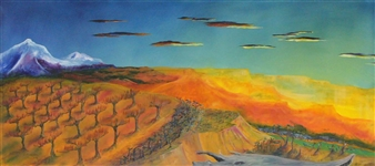 Mark W. Malone - North Fork Kaleidoscape Oil on Canvas, Paintings