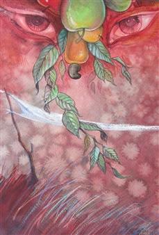 Gilberto Arriaza - Exhuberancia Watercolor on Paper, Paintings