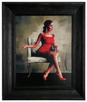 R. Matheson - Scarlet Oil on Canvas Board, Paintings