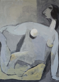 Khac Cuong Le - A Woman 5 Oil and Gouache on Canvas, Paintings