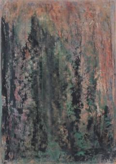François-Jérôme Bringuier - Infractuosities Oil on Paper, Paintings