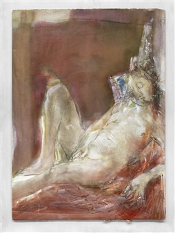 Michael Fridman - Siesta Oil & Ink on Paper, Mixed Media