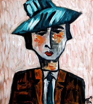 Iva Milanova - Dandy Oil on Canvas, Paintings