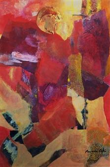 Pauline Rakis - Bringing the Light of Day Acrylic on Canvas, Paintings