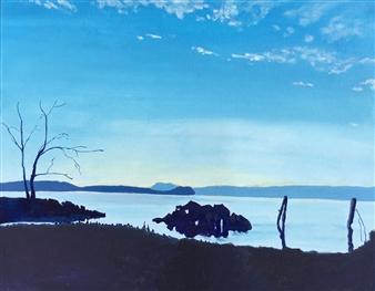 Gabriella Mirabelli - Croton Boat Launch Acrylic on Canvas, Paintings