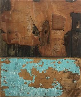 Stefano Sanna - Paesaggi in Allerta Meteo Emerald Mixed Media on Canvas, Mixed Media