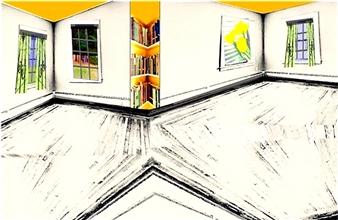 Joanna Stuart - Polygon with Yellow Archival Pigment Print, Prints