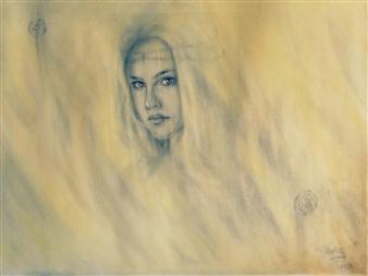 Charlotte Lisboa - Veil Graphite on Paper, Drawings