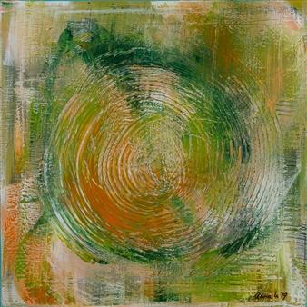 Anna K Art Katja van den Bogaert - Desert Digs Acrylic on Linen, Paintings