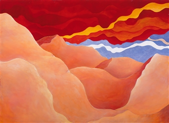 Jerry Anderson - Sahara Storm Acrylic on Canvas, Paintings