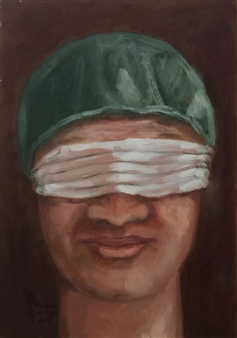 Ragaa Mansour - The Famous Doctor Oil on Canvas, Paintings