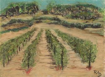 Raul Mariaca Dalence - Sonoma 1 Pastel on Canvas, Paintings