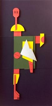 Julio Lopez Vietri - Where to I Mixed Media on Cardboard, Mixed Media