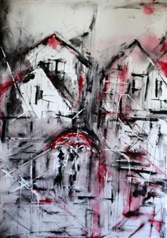 Dana Ingesson - Whispering Rain Watercolor on Paper, Paintings