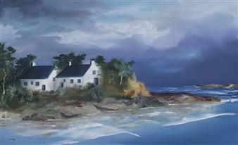 Dominique Lorsery - Retour de la marée Oil on Canvas, Paintings