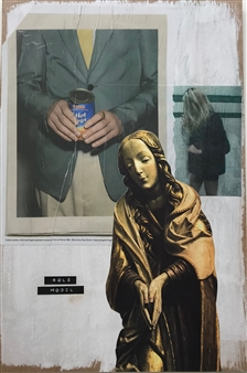 William Atkinson - Iconography Mixed Media & Collage on Board, Mixed Media