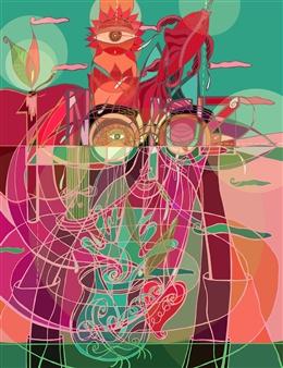 Anson Liaw - Nowrouz 1400 3D Giclee Print on Paper, Digital Art