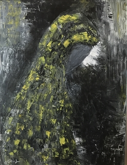 Salwa Almoayyed - Woman from East Oil on Canvas, Paintings