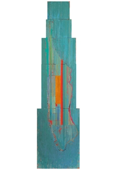 Ashley Hanson - City of Glass 19 – (Park Avenue) Oil on Canvas, Paintings