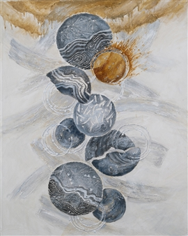 Nobuko Saji - Rusalka II Acrylic & Mixed Media on Canvas, Mixed Media