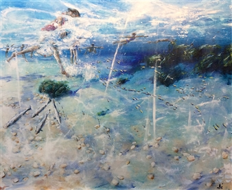 Di Taylor - Underwater World Acrylic on Canvas, Paintings
