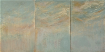 Rebecca Katz - Euphoria, triptych Acrylic & Graphite on Canvas, Paintings