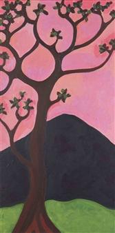 Claudia C Forero - Magic Tree III. Flora and Fauna. Acrylic on Canvas, Paintings