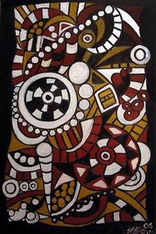 Iva Milanova - Trance Oil on Canvas, Paintings