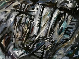 Terry Firkins - The Arc of Visibility Oil & Mixed Media on Canvas, Mixed Media