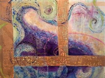 Marianne AuBuchon Devitt - Floodgate Oil on Canvas, Paintings