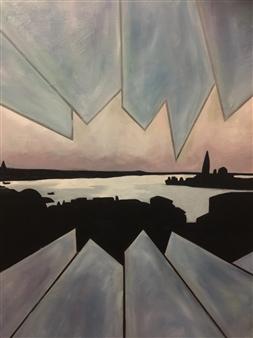 Maribel Matthews - Shattered Venice Oil on Canvas, Paintings