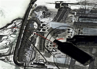 M. Ines Lagos - A Gift of Chilean Wine, Luggage Scanner Mixed Media on Canvas, Mixed Media