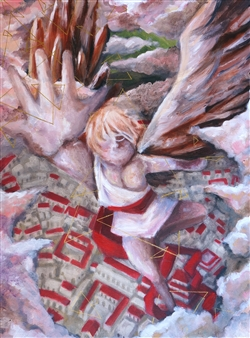 Xiao daCunha - Icarus Asending Acrylic on Canvas, Paintings