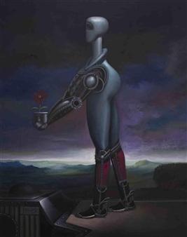 Pedro Vargas - Mutant Machine Oil on Canvas, Paintings