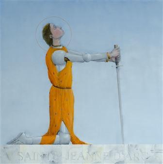 Jorge Garcia-Sainz - Saint Jeanne D'Arc Oil on Canvas, Paintings