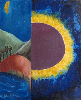 Marliese Scheller - Contrastes Oil on Masonite, Paintings