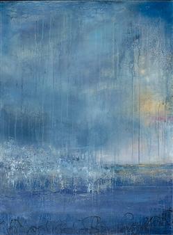 Rebecca Katz - Into the Mystic Acrylic & Graphite on Canvas, Paintings